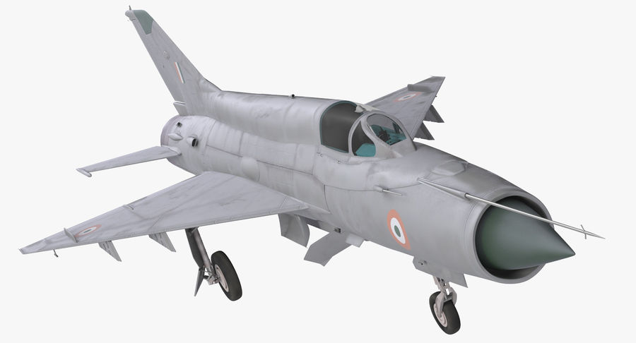 MiG-21 Bison Indian Air Force IAF royalty-free 3d model - Preview no. 2