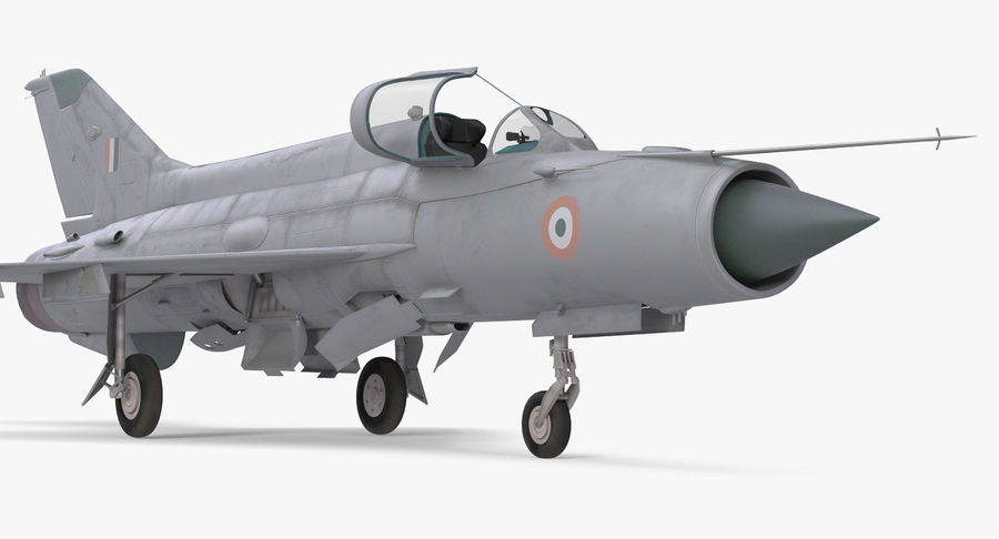 MiG-21 Bison Indian Air Force IAF royalty-free 3d model - Preview no. 7