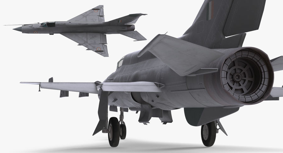 MiG-21 Bison Indian Air Force IAF royalty-free 3d model - Preview no. 9