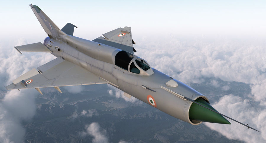 MiG-21 Bison Indian Air Force IAF royalty-free 3d model - Preview no. 3