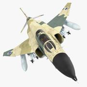 F-4E Kurnass Военно-воздушные силы Израиля 3D Модель 3d model