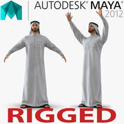 Maya için Aranan Arap Adam 3d model