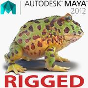 Maya向けパックマンカエルリギング 3d model