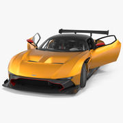 Aston Martin Vulcan 2016 Rigged Model 3D 3d model