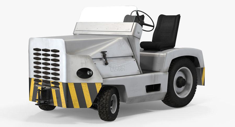 Tracteur de remorquage d'avion Clark CT30 transportant des bagages de  passagers Modèle 3D modèle 3D $149 - .max - Free3D
