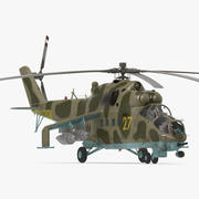 Russian Attack Helicopter Mil Mi-24B Modèle 3D 3d model