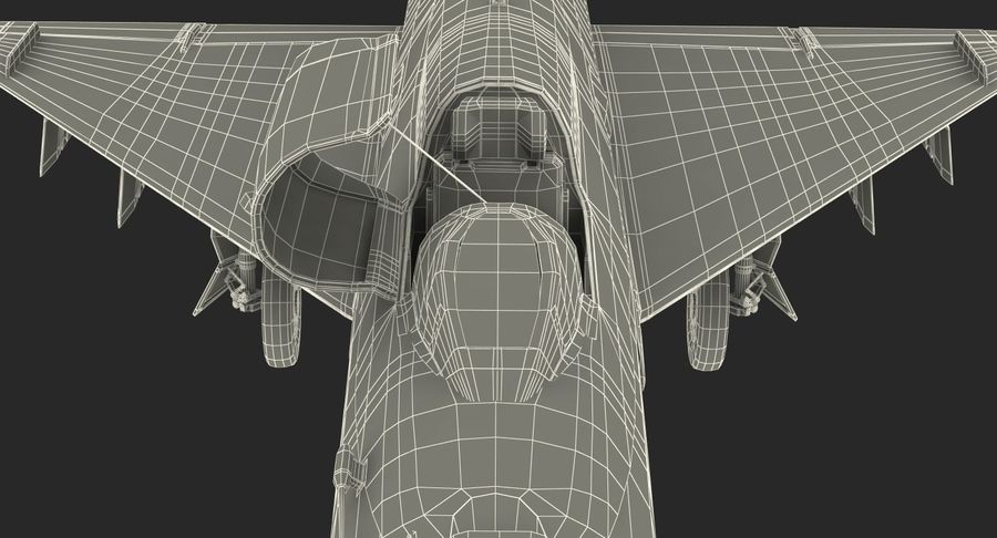 Fighter MiG-21 Fishbed Russian Rigged 3D Model royalty-free 3d model - Preview no. 30