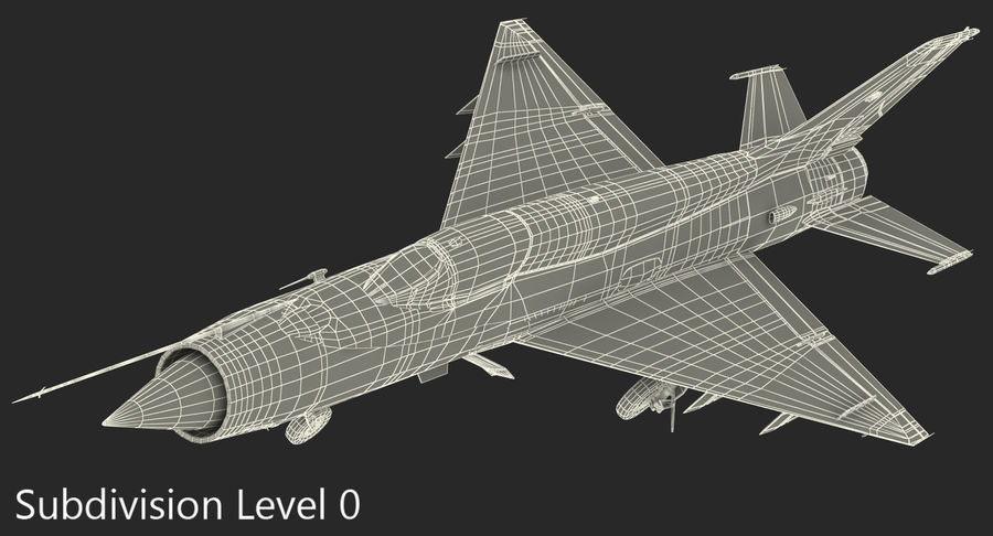 Fighter MiG-21 Fishbed Russian Rigged 3D Model royalty-free 3d model - Preview no. 19