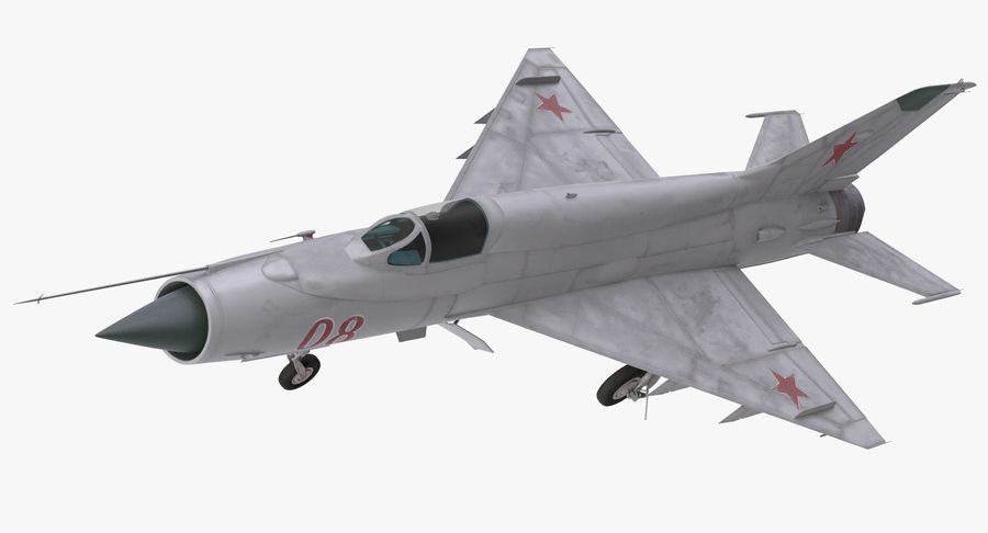 Fighter MiG-21 Fishbed Russian Rigged 3D Model royalty-free 3d model - Preview no. 10