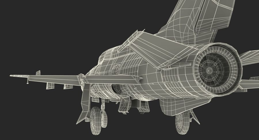 Fighter MiG-21 Fishbed Russian Rigged 3D Model royalty-free 3d model - Preview no. 28