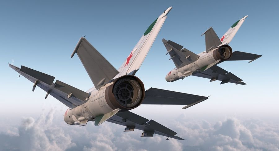 Fighter MiG-21 Fishbed Russian Rigged 3D Model royalty-free 3d model - Preview no. 5