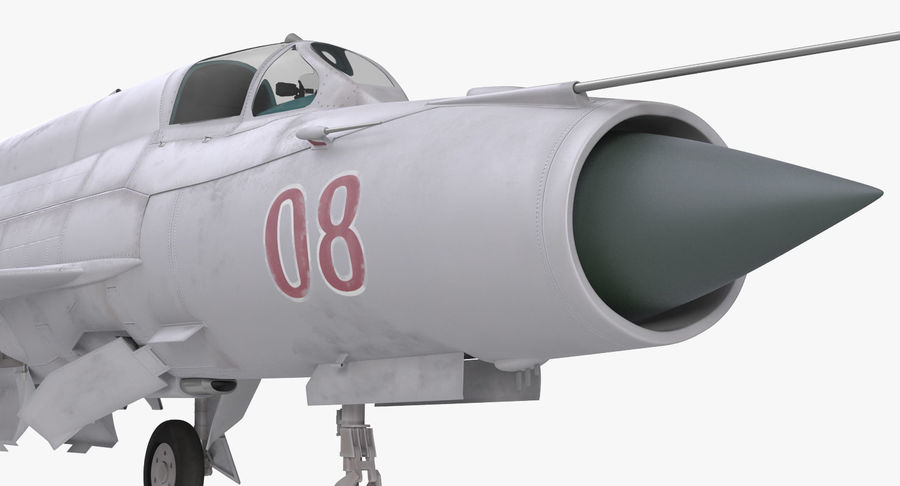 Fighter MiG-21 Fishbed Russian Rigged 3D Model royalty-free 3d model - Preview no. 15