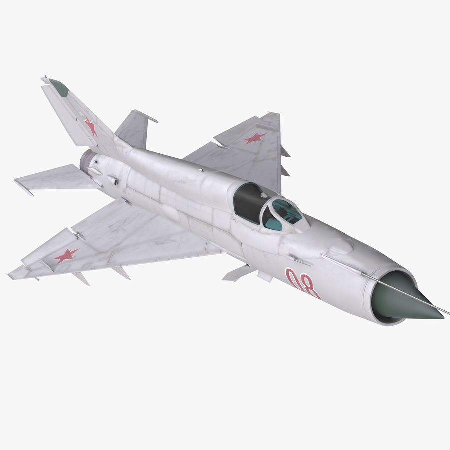 Fighter MiG-21 Fishbed Russian Rigged 3D Model royalty-free 3d model - Preview no. 1