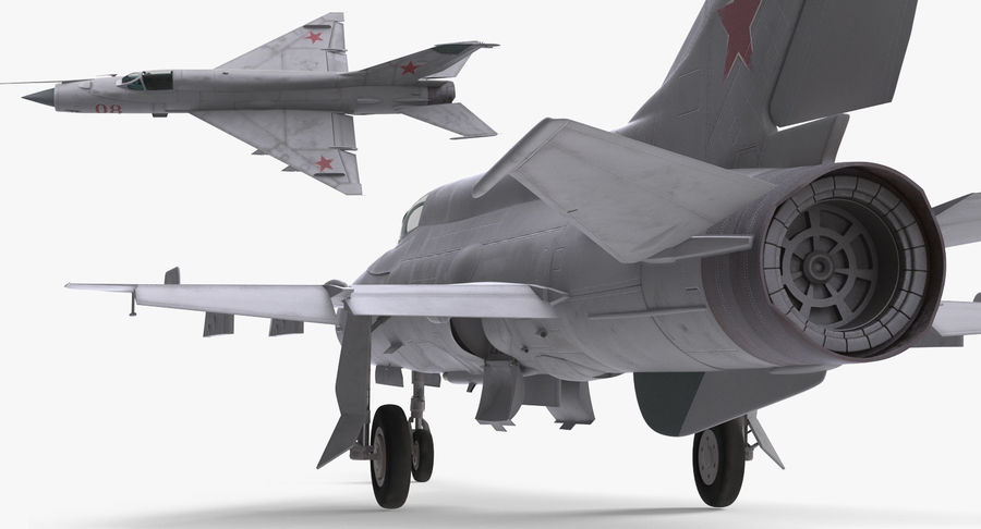 Fighter MiG-21 Fishbed Russian Rigged 3D Model royalty-free 3d model - Preview no. 9