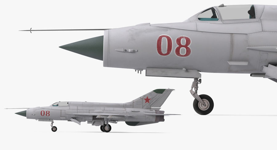 Fighter MiG-21 Fishbed Russian Rigged 3D Model royalty-free 3d model - Preview no. 12