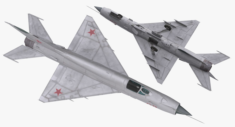 Fighter MiG-21 Fishbed Russian Rigged 3D Model royalty-free 3d model - Preview no. 8