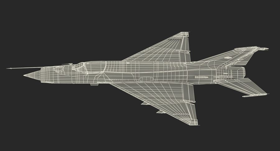 MiG-21 Egyptian Air Force Rigged 3D Model royalty-free 3d model - Preview no. 25