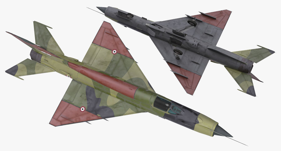 MiG-21 Egyptian Air Force Rigged 3D Model royalty-free 3d model - Preview no. 8