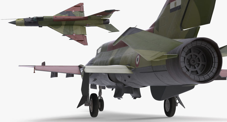 MiG-21 Egyptian Air Force Rigged 3D Model royalty-free 3d model - Preview no. 9