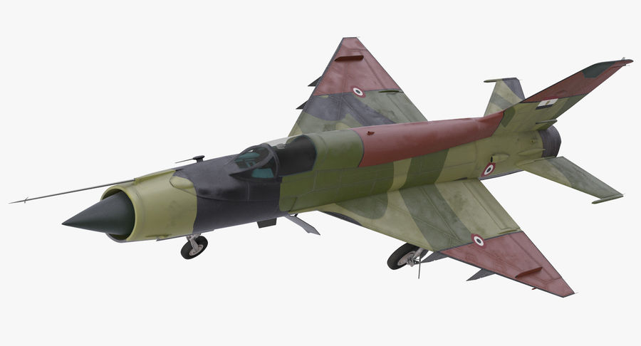 MiG-21 Egyptian Air Force Rigged 3D Model royalty-free 3d model - Preview no. 10
