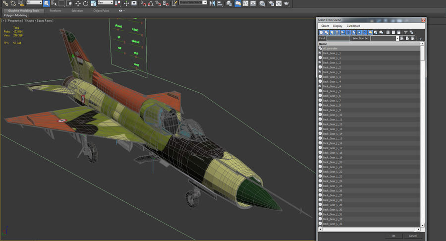 MiG-21 Egyptian Air Force Rigged 3D Model royalty-free 3d model - Preview no. 23