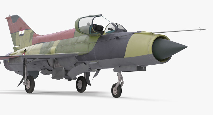 MiG-21 Egyptian Air Force Rigged 3D Model royalty-free 3d model - Preview no. 7