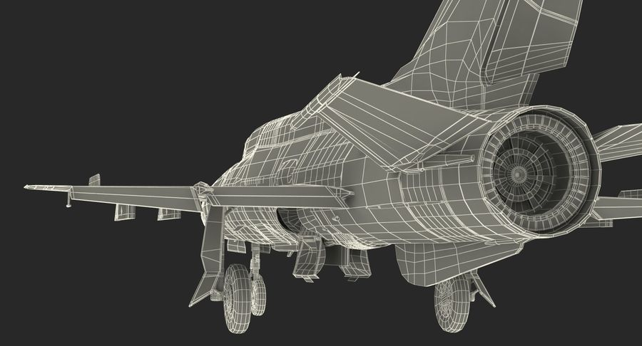 MiG-21 Egyptian Air Force Rigged 3D Model royalty-free 3d model - Preview no. 28