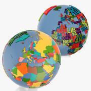 地政学的世界と世界世界の言葉 3d model