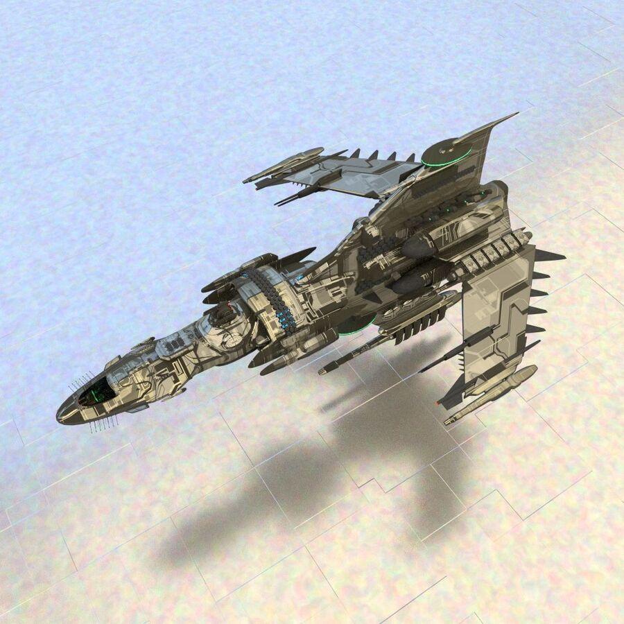 Gunship royalty-free 3d model - Preview no. 3