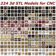 224 arquivos STL 3D - Coleção para roteadores CNC 3d model