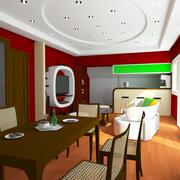 Interiör Bodish 3d model