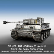 Panzer VI - Tiger - 5 - Tidig produktion 3d model