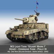 M3 Light Tank Honey - Polly III 3d model