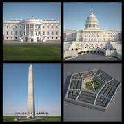 4 Washington Structures 3d model