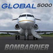 Bombardier Global 5000 modelo 3d