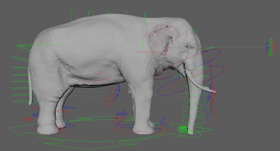 Éléphant d'Asie (gréé) royalty-free 3d model - Preview no. 24