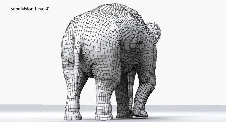 Éléphant d'Asie (gréé) royalty-free 3d model - Preview no. 16