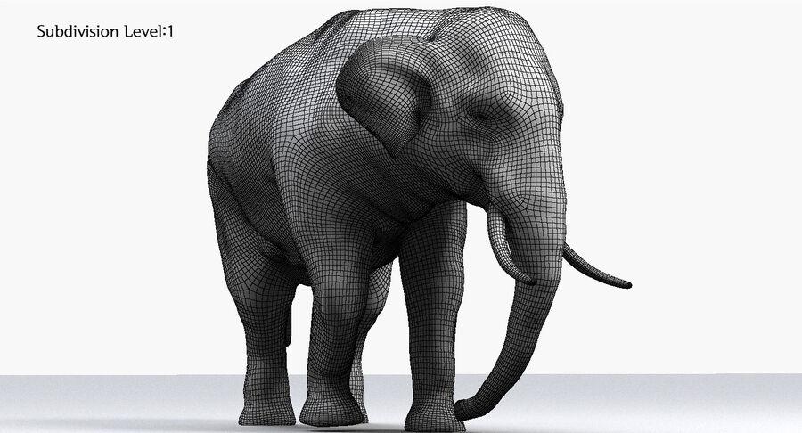Éléphant d'Asie (gréé) royalty-free 3d model - Preview no. 22