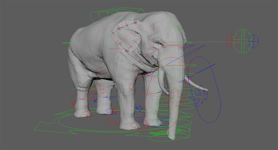 Éléphant d'Asie (gréé) royalty-free 3d model - Preview no. 23
