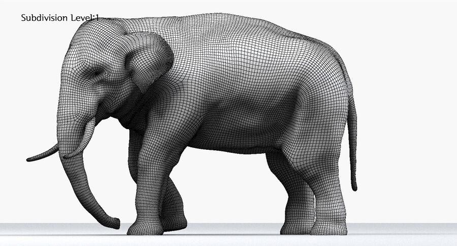 Éléphant d'Asie (gréé) royalty-free 3d model - Preview no. 26