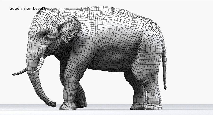 Éléphant d'Asie (gréé) royalty-free 3d model - Preview no. 25