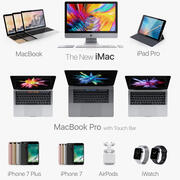 Apple Electronics Collection 2016 2017 v3 3d model