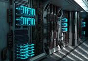サーバールームの廊下 3d model