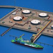 LNG Terminal Port 3d model