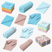 Baby Blankets Collection 3d model
