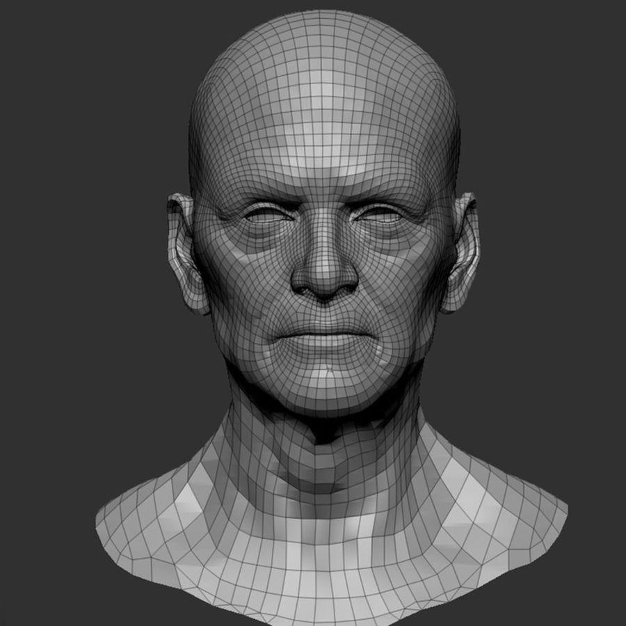 Male Face 3d Model 15 Oth Ma Ztl Obj Fbx Free3d