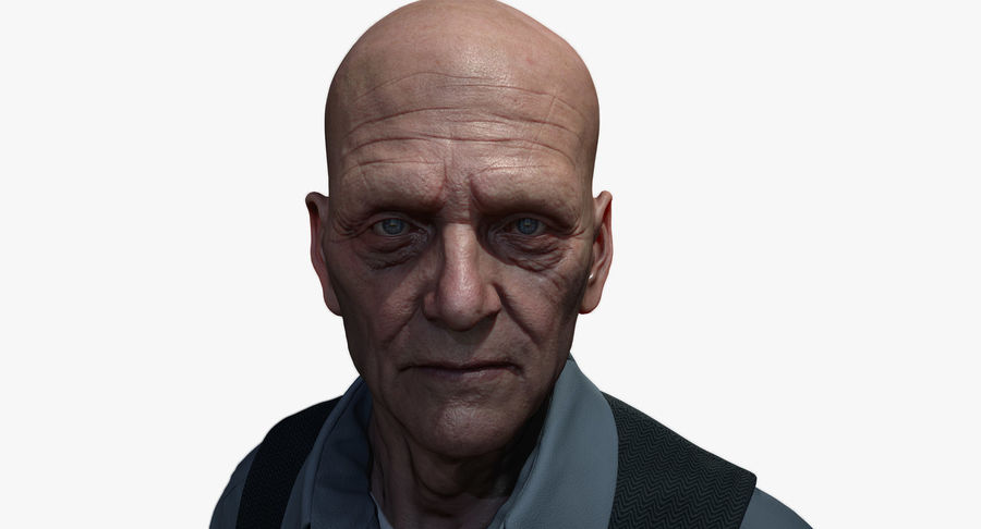 Visage masculin royalty-free 3d model - Preview no. 1