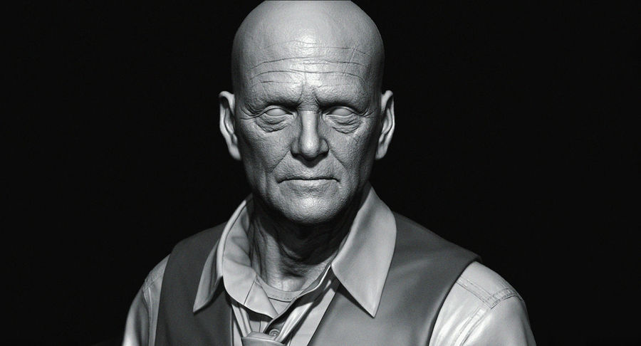 Visage masculin royalty-free 3d model - Preview no. 7