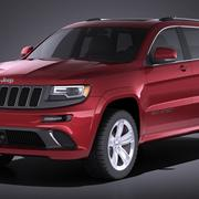 Jeep Grand Cherokee SRT 2016 VRAY 3d model