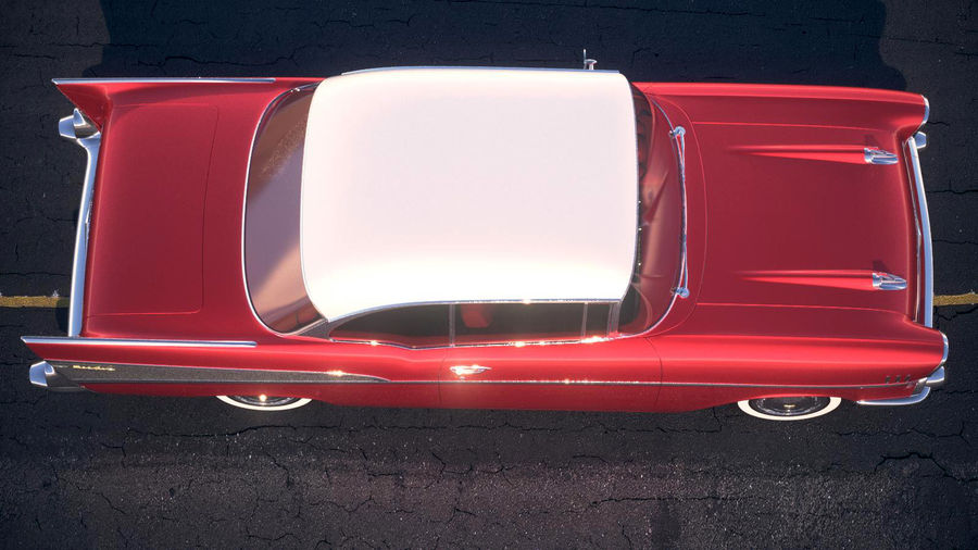 Chevrolet Bel Air Hardtop Coupe 1957 royalty-free 3d model - Preview no. 14